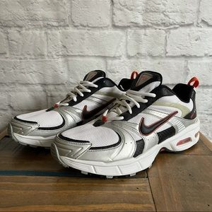 NIKE MAX AIR Sneakers White Red Black